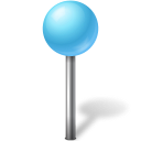 Map Marker Ball Azure icon