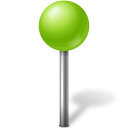 Map-Marker-Ball-Chartreuse icon