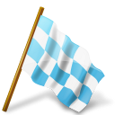 Map Marker Chequered Flag Right Azure icon