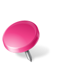 Map Marker Drawing Pin Left Pink icon