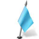 Map-Marker-Flag-2-Right-Azure icon