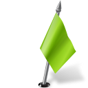 Map-Marker-Flag-2-Right-Chartreuse icon