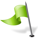 Map Marker Flag 3 Left Chartreuse icon