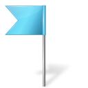 Map-Marker-Flag-4-Left-Azure icon