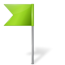 Map-Marker-Flag-4-Left-Chartreuse icon