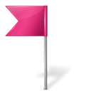 Map-Marker-Flag-4-Left-Pink icon