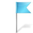 Map Marker Flag 4 Right Azure icon