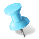Map-Marker-Push-Pin-1-Left-Azure icon