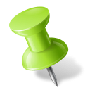 Map-Marker-Push-Pin-1-Left-Chartreuse icon