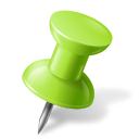 Map Marker Push Pin 1 Right Chartreuse icon