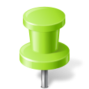 Map Marker Push Pin 2 Chartreuse icon