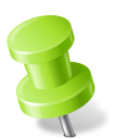 Map-Marker-Push-Pin-2-Left-Chartreuse icon
