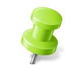 Map-Marker-Push-Pin-2-Right-Chartreuse icon