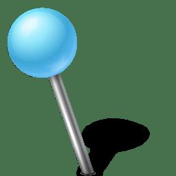 Map Marker Ball Left Azure icon