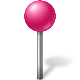 Map Marker Ball Pink icon