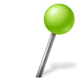 Map Marker Ball Right Chartreuse icon