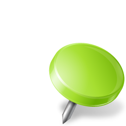 Map Marker Drawing Pin Right Chartreuse icon