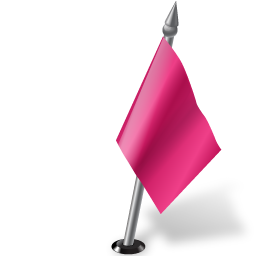 Map Marker Flag 2 Right Pink icon