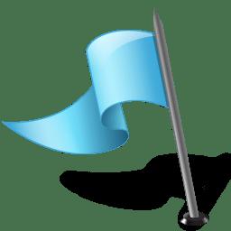 Map Marker Flag 3 Left Azure icon