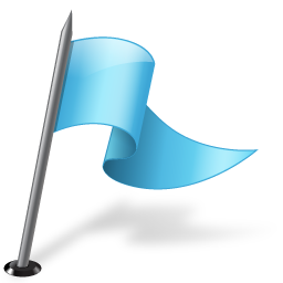 Map Marker Flag 3 Right Azure icon
