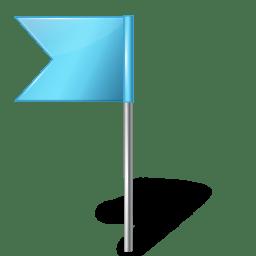 Map Marker Flag 4 Left Azure icon
