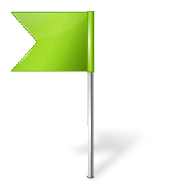 Map Marker Flag 4 Left Chartreuse icon