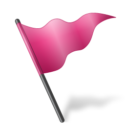 Map Marker Flag 5 Pink icon