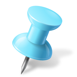Map Marker Push Pin 1 Right Azure icon