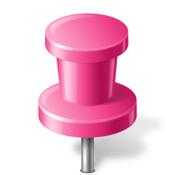 Map Marker Push Pin 2 Pink icon
