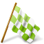 Map-Marker-Chequered-Flag-Right-Chartreuse icon