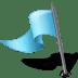 Map-Marker-Flag-3-Left-Azure icon
