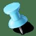 Map-Marker-Push-Pin-1-Left-Azure icon
