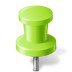 Map-Marker-Push-Pin-2-Chartreuse icon