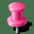 Map-Marker-Push-Pin-2-Pink icon