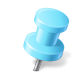 Map-Marker-Push-Pin-2-Right-Azure icon