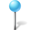 Map-Marker-Ball-Azure icon