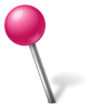 Map-Marker-Ball-Left-Pink icon