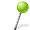 Map-Marker-Ball-Right-Chartreuse icon