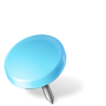 Map-Marker-Drawing-Pin-Left-Azure icon