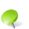 Map-Marker-Drawing-Pin-Left-Chartreuse icon