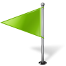 Map-Marker-Flag-1-Left-Chartreuse icon