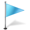 Map-Marker-Flag-1-Right-Azure icon