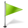 Map-Marker-Flag-1-Right-Chartreuse icon