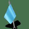 Map-Marker-Flag-2-Left-Azure icon