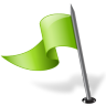 Map-Marker-Flag-3-Left-Chartreuse icon