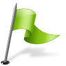 Map-Marker-Flag-3-Right-Chartreuse icon