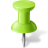Map-Marker-Push-Pin-1-Chartreuse icon