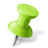 Map-Marker-Push-Pin-1-Right-Chartreuse icon
