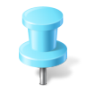 Map-Marker-Push-Pin-2-Azure icon