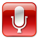 Microphone Normal Red icon